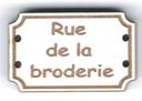 BD704 - Bouton Rue de la broderie