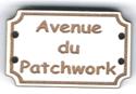 BD708 - Bouton Avenue du patchwork