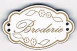 BE005B - Bouton Broderie