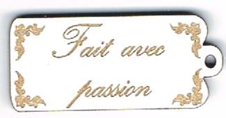 BE018B - Bouton Fait avec passion