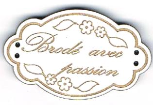 BE110B - Bouton Brodé avec passion