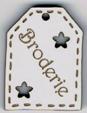 BE511 - Etiquette ajourée