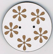 BF601 - Bouton rond fleurs n°1