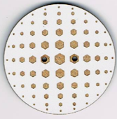 BF606 - Bouton rond géométrique n°3