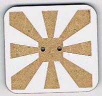 BF609 - Bouton rectangle géométrique n°1