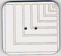 BF612 - Bouton rectangle géométrique n°4