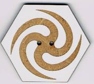 BF616 - Bouton hexagonal spirale 2