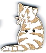 BG006 - Bouton Chat tigré n°1