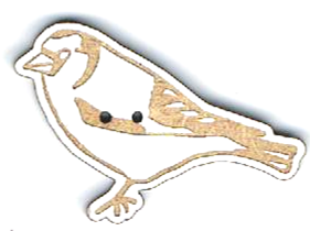 BG022 - Bouton Oiseau