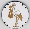 BG033 - Bouton cigogne n°4