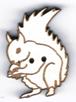 BG045 - Bouton écureuil noisette