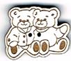 BG066 - Bouton couple de nounours