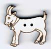 BG096 - Bouton chèvre