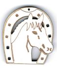 BG105 - Bouton fer à cheval & cheval