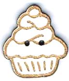 BI002 - Bouton  Cup cake chantilly