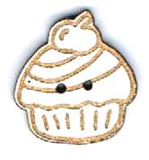 BI003 - Bouton Cup cake cerise