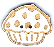 BI005 - Bouton Cup cake copeaux
