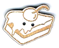 BI007 - Bouton Portion de gateau
