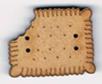 BI010 -Bouton  Petit beurre croqué