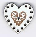 BL016 - Bouton mini tri-fils coeur
