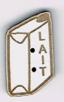 BL112 - Bouton brique de lait