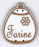 BL118.1 - Bouton Pot rond Farine