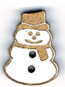 BN004 - Bouton Petit bonhomme de neige
