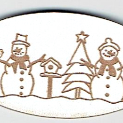 BN013- Médaillon bonhomme de neige