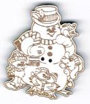 BN202 - Bouton bonhomme de neige et ses amis