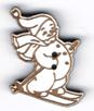 BN207 - Bouton bonhomme de neige à ski