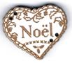 BN300 - Bouton coeur noël
