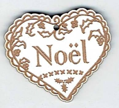 BN300G- Grand coeur Noël