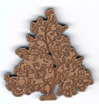 BN301 - Bouton arbre décoré 1