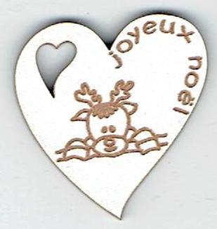 BN401- Coeur, tête de renne