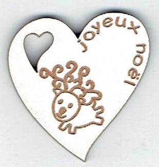 BN410- Coeur, petit renne