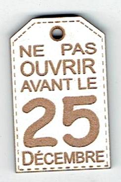 BN450- Ne pas ouvrir avant le 25 décembre