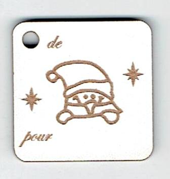 BN503- Etiquette cadeau, lutin
