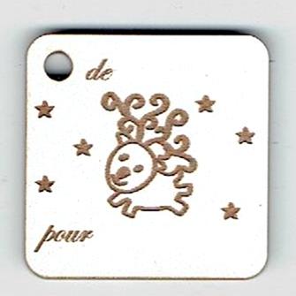 BN505- Etiquette cadeau, petit renne