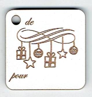 BN508- Etiquette cadeau, guirlande