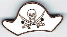BR604 - Tricorne de pirate