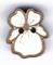 BS203 - Bouton mini fleur pensée