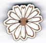 BS205 - Bouton fleur marguerite