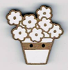 BT021 - Bouton pot de fleur garni