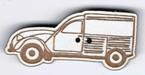 BT213 - Bouton voiture 2cv fourgonnette