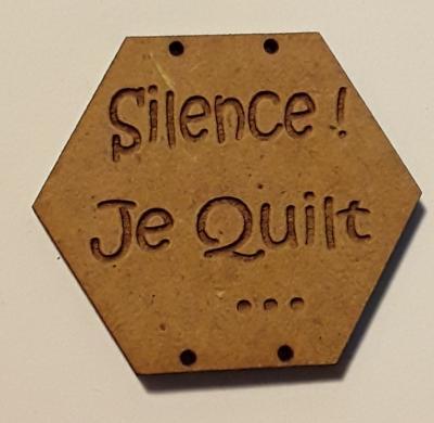 BX112- Silence ! Je Quilt ...