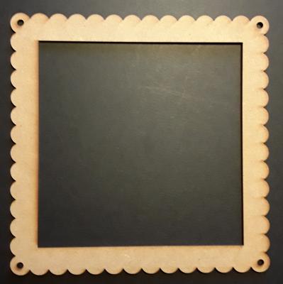 Cadre carré dentelle, 15 cm