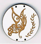CG004 - Bouton papillon rond