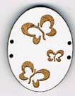 CG005 - Boutons ovale trois papillons
