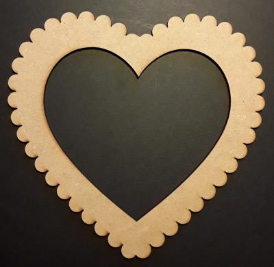 Cadre coeur dentelle, 13x12 cm