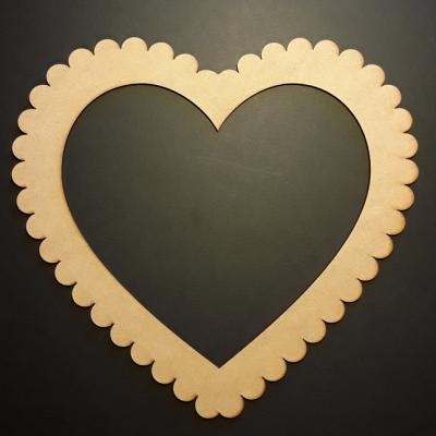 Cadre coeur dentelle, 22x20 cm
